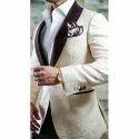 Floral White Tuxido Suit