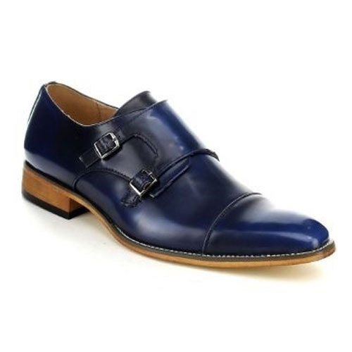 a375eb2cccb0b Mens Blue Monk Strap Shoes, Size: 6 To 10, Rs 1250 /pair | ID ...