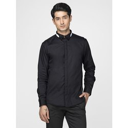 Green Hill Men's Designer Black Solid Shirt