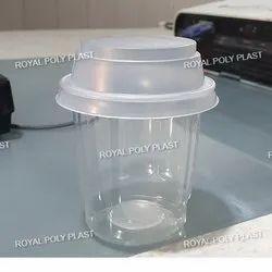 Custom Transparent Sundae Ice Cream Cup, Size: 125ml