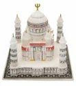 White Square Marble Taj Mahal Model, For Decor