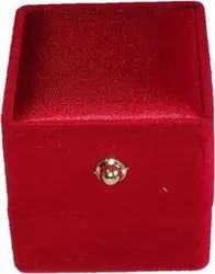 Plain Red Ring Box Wedding Gift Premium Quality, Size/Dimension: Lxbxh (cm)- 5x4.5x4.5