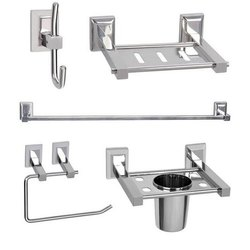 Stainless Steel Silver SS Bathroom Accessories Set