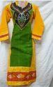 Cotton Kutchi Hand Batik Long Kurti With Hand Paint