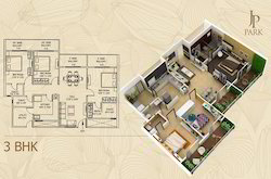 3BHK Floor Plans Completed Project