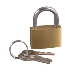 Brass Luggage Padlock