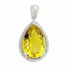 Natural Yellow Sapphire Pendants (Pukhraj)