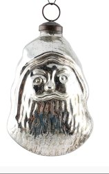 Nazia International Silver Santa Claus Glass