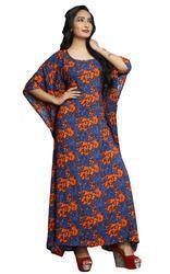 Women Casual Wear Free Size Ankle Length Printed Kaftan