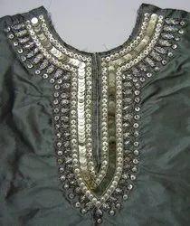 Stylish Beaded & Sequins Neckline