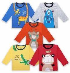 Hosiery Kids T-Shirt Full Sleeves, Age Group: 1 - 4 Years