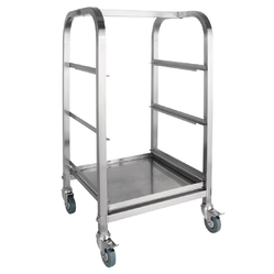 Stainless Steel Three Tier Glass Trolley