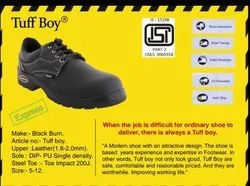 Leather Floating Candle Black Burn Tuff Boy Shoe for Industrial