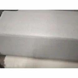 35-50 Inch White Plain Cotton Bedsheet Fabric, GSM: 200