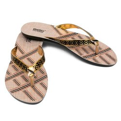 Women Black PVC Fashion Slippers