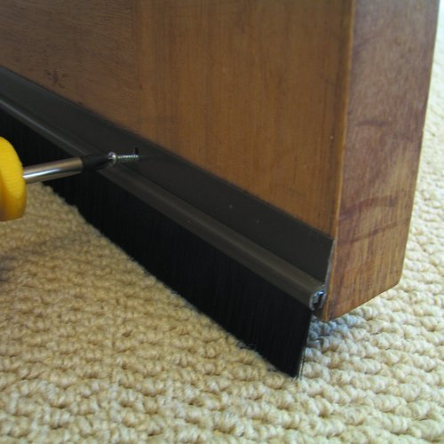 Seal Plus Bottom Door Seal Aluminium Profile Brush / Rubber & Seal Plus Bottom Door Seal Aluminium Profile Brush / Rubber Seal ...