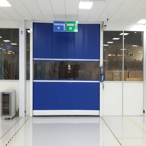 Blue and White Clean Rooms High Speed Doors