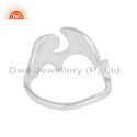 925 Fine Silver Elephant Shape Statement Adjustable Ring Jewelry
