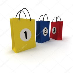 Sequentially Numbered Bags for Online Shopping Cos