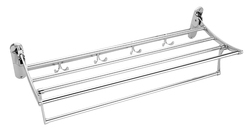 SS Double Layer Bath Towel Rack