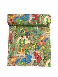 Frida Kahlo Design Kantha Gudari Cotton Kantha Quilt