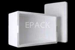 White Expanded Polystyrene Box