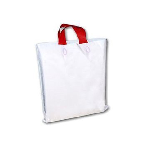 White Plain Carry Plastic Bag, Shape: Rectangular