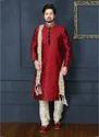 Banarasi Silk Churidar Sherwani