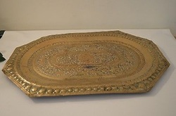 Golden Brass Serving Tray