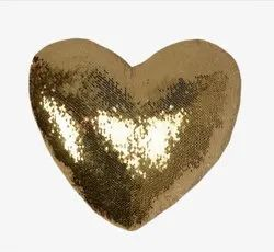 Gold Heart Magic Cushion Sublimation Printable Blanks Blind Zipper
