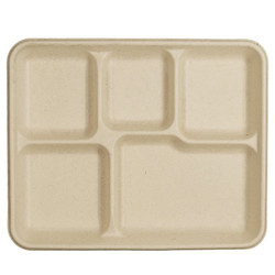 5 Compartment Food Tray