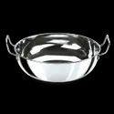 Stainless Steel Light Weight Kadhai, Size: Dia - 20 Cm, Height - 10 Cm, Material Grade: 202