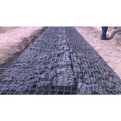 Punched and Oriented Uniaxal Geogrid