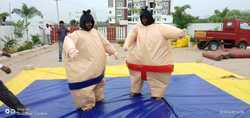 inflatable sumo suit with mat