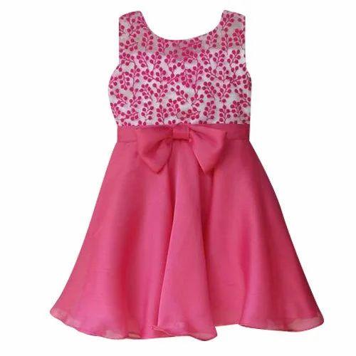 d468b111fc67 Pink Girls Party Wear Frock