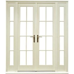 White Clear Glass French Doors