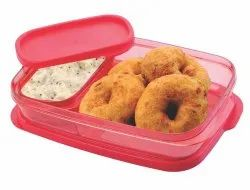 2 IN 1 Plastic Lunch Box with Spoon