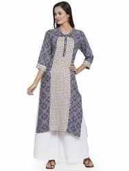Party Wear Rayon Designer Kurtis Palazzo Set