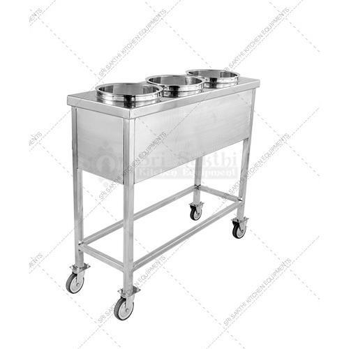 Stainless Steel Trolley - Movable Stainless Steel Trolley