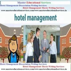Hotel Management Dissertation Writing Services Consultancy