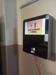 Hand Sanitizer Wall Unit 20 Inch Digital Signage
