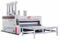 Semi Feeder Corrugated Box Flexo Printer Rotary Die Punching