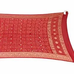 All Over Red Color Fancy Design Banarasi Georgette Bandhani Dupatta
