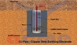 G.I Pipe - Copper Strip Earthing Electrode