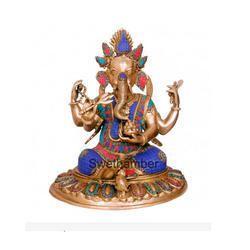 Decorative Ganesha Brass Statue