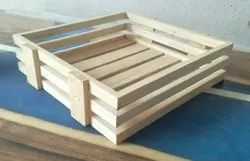 Matte 11x10x3 inch Wooden Decorative Dry Fruit Tray, Shape: Rectangle