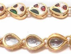 Beadsnfashion Golden Jewellery Making Kundan Kadi Chain