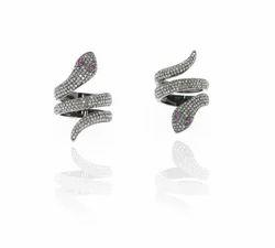 925 Silver Pave Diamond Ring