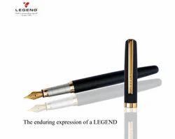 Black Gold Metal Fountain Pen