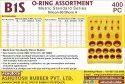 O Rings Box 400 Pcs (Kit) - Silicon Rubber Metric Standard Series